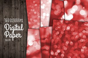 Bokeh Background Paper Red Wallpaper