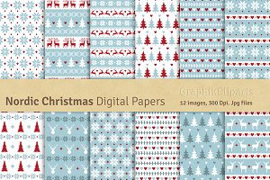 Nordic Christmas Digital Papers