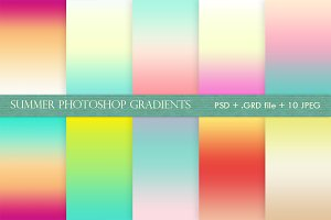 SUMMER GRADIENTS for Photoshop