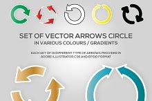 Set of Vector Arrow Circle