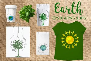 EARTH DAY posters set