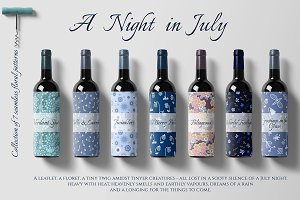 A Night in July. Floral prints