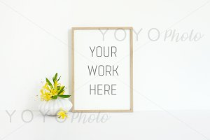 Thin Wooden Frame Mock Up A4