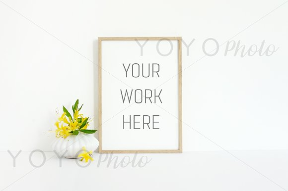 Download Thin Wooden Frame Mock Up A4