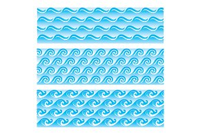 seamlessly sea wave patterns