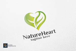 Nature Heart - Logo Template