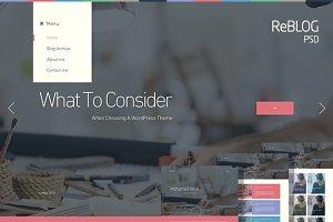 ReBLOG - Creative Blog PSD Template