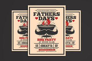 Fathers Day BBQ Party Flyer