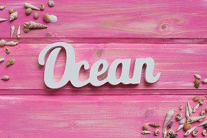 shell background, ocean