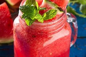 Fresh watermelon drink smoothie
