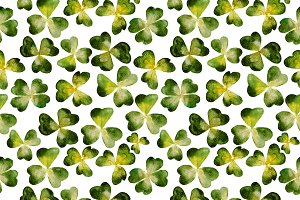 Clover watercolor pattern