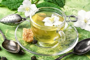 herbal tea with Jasmine flowers