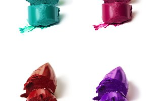 Lipstick Colorful Isolated Backgroun