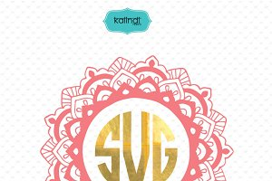 Mandala monogram svg