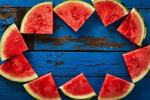 Watermelon Background. Summer