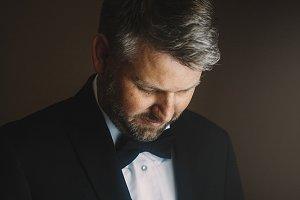 Man with grey hair