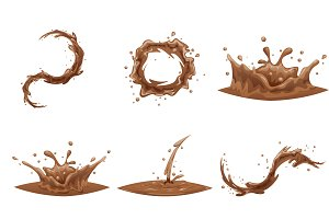 Chocolate Flowing Splash