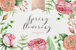 Watercolor spring bloom