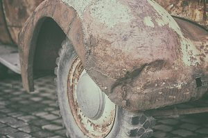 Front fender of a vintage car