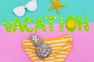 Tropical Beach Party Set Minimal