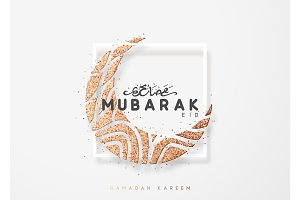 Eid mubarak greeting card with arabic calligraphy ramadan kareem eid mubarak greeting card with arabic calligraphy ramadan kareem illustrations creative market m4hsunfo