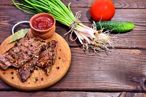 Fried veal with spices