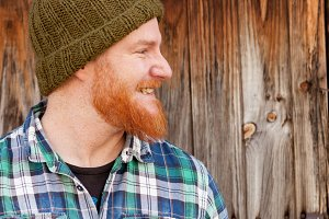 Portrait of a red haired guy