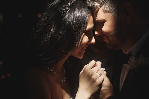 Sun shines over newlyweds