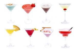 Cocktail martini glass collection