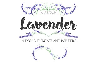 Lavender decor elements