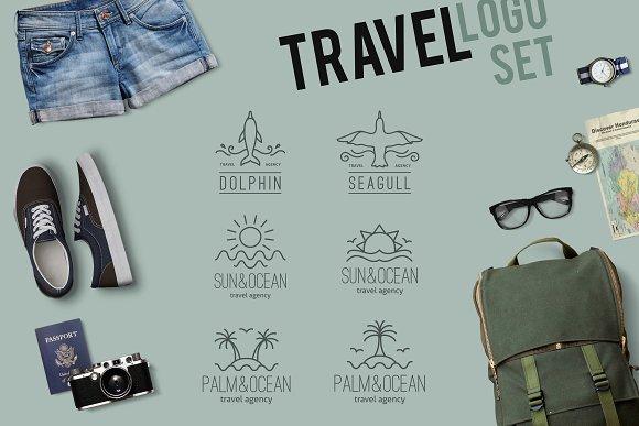 6 travel linear logo