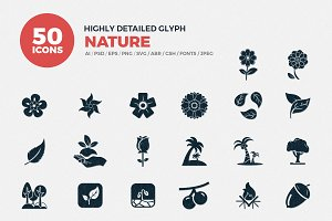Glyph Icons Nature Set