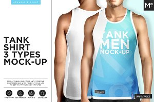 Men Tank 3 Types Mock-up