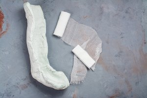Plaster and bandages