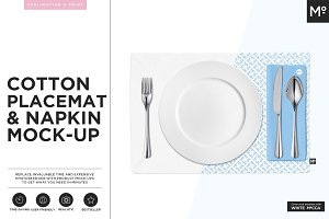 Cotton Placemat & Napkin Mock-up