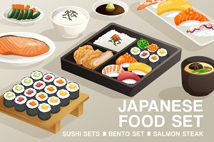 Set of Japanese Food 4