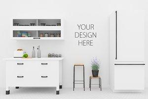 Kitchen mockup - poster mockup