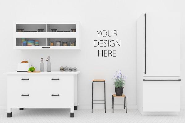 Kitchen mockup - poster mockup PSD Template - 447663+ Free ...