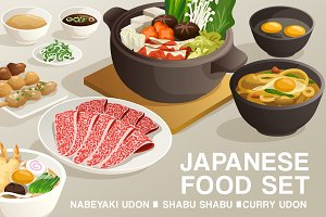 Set of Japanese Food 5