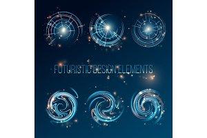 HUD futuristic abstrac background design elements. Vector illustration
