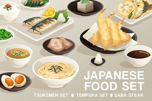 Set of Japanese Food 6