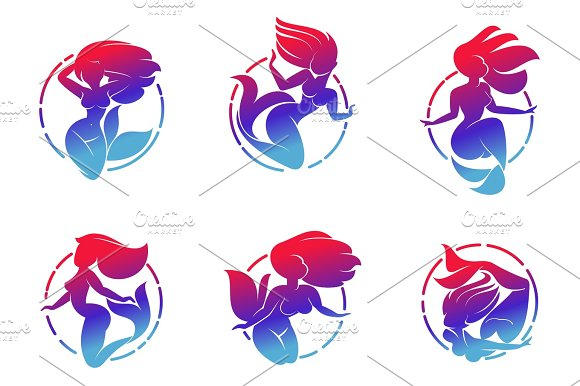Mermaid Set Logo