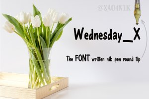 60% discount Wednesday_X Font