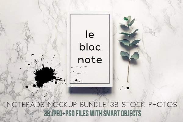 Notepads mockup bundle.