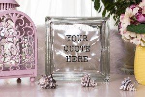 Deco Glass Block Mockup styled Photo