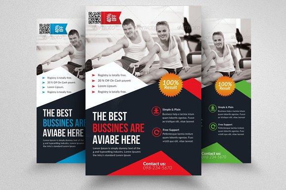 Body Fitness Gym Flyer