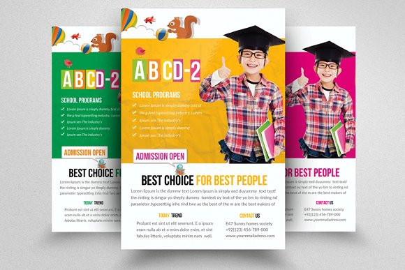 Education Flyer Templates Images Template Design Free Download