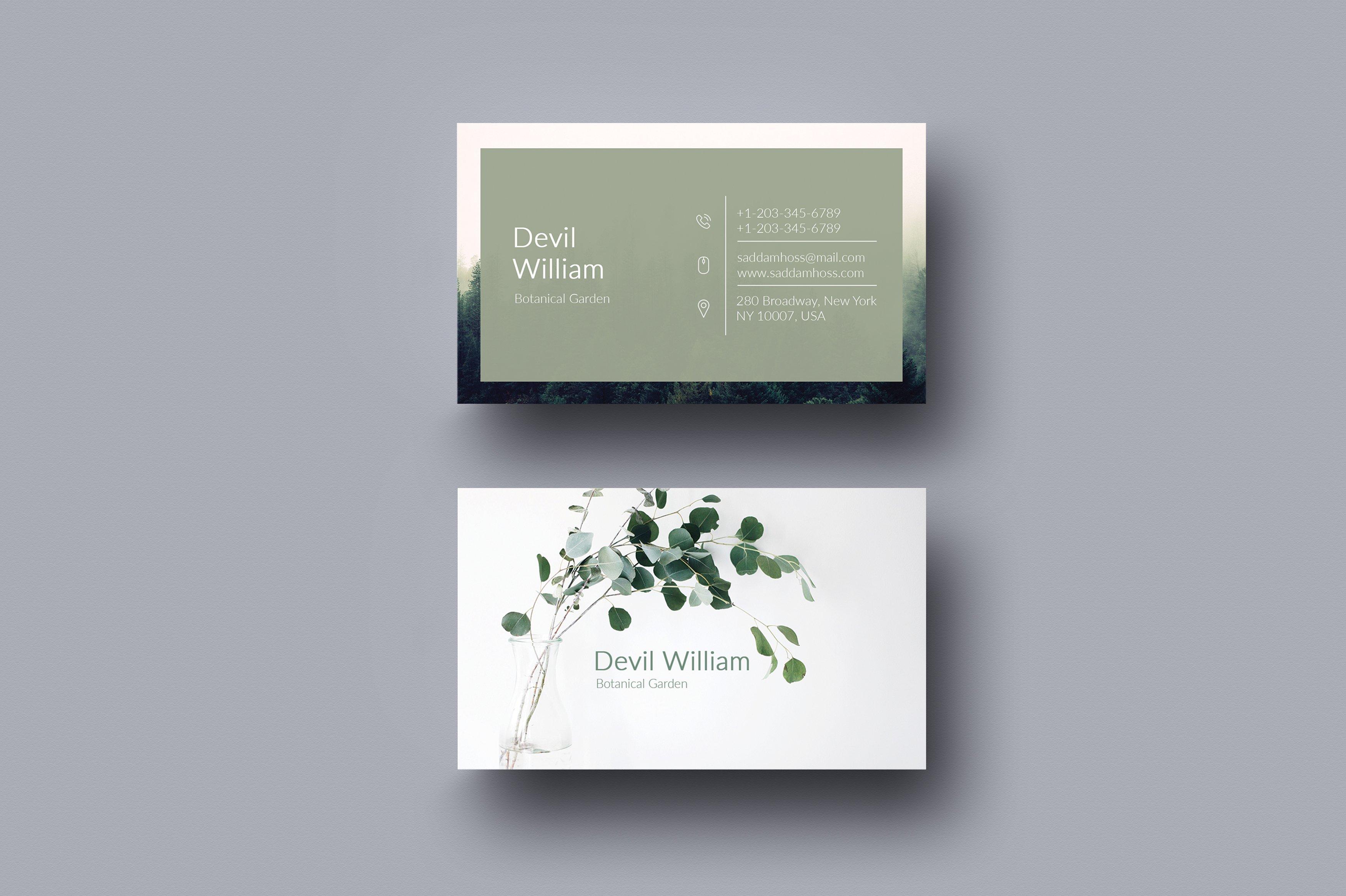 Inspirational photos of business card new york business cards botanical gardener business card templates creative market magicingreecefo Image collections