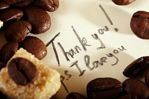 Coffee beans, thank you