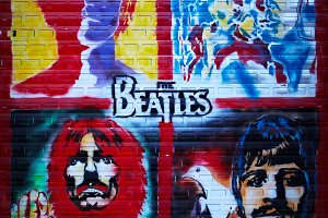 The Beatles graffiti wall